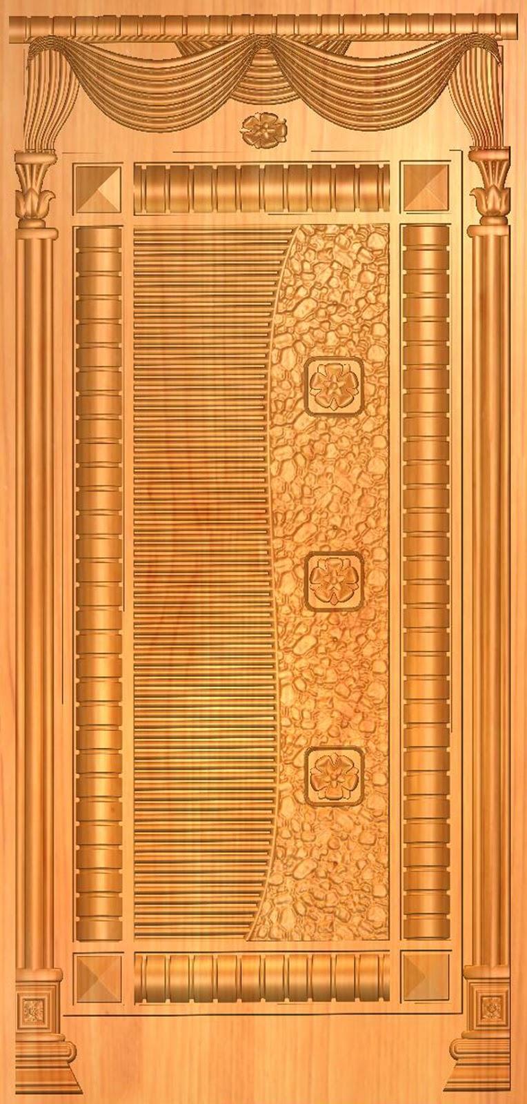 Krishna for Single wooden door designs 2016