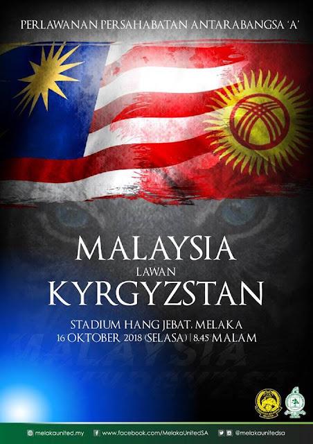 Live Streaming Malaysia vs Kyrgystan 16.10.2018