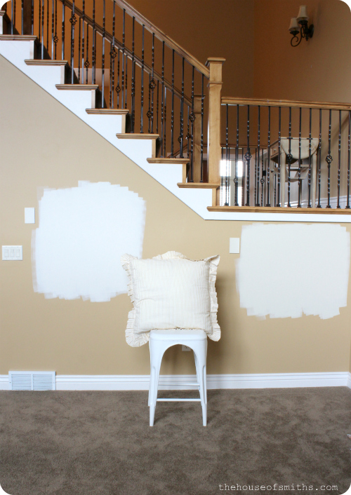Paint Color Testing Thehouseofsmiths