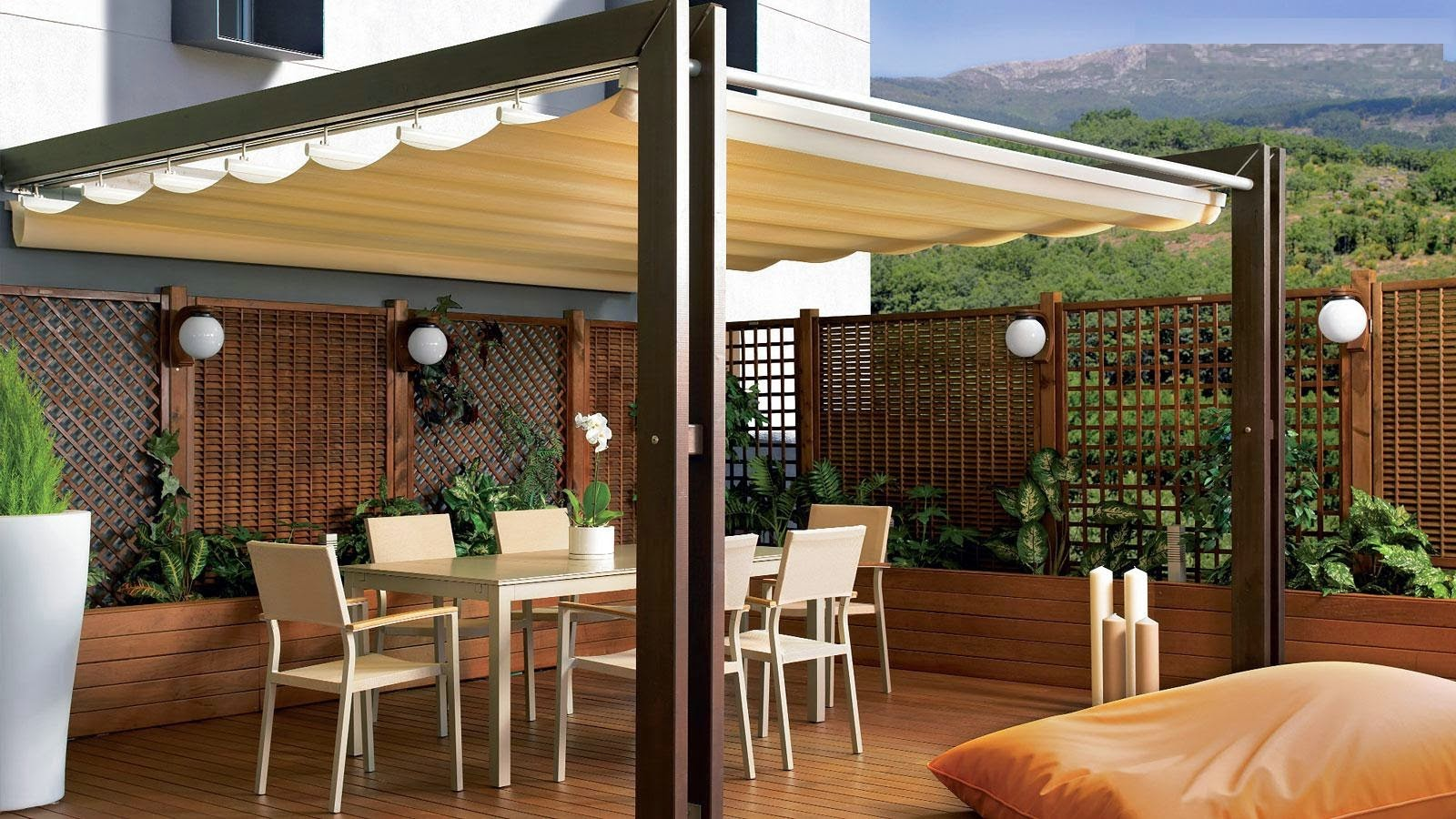 Consejos para decorar jardines en terrazas y balcones revista tendenciadeco - Pergolas de bambu ...