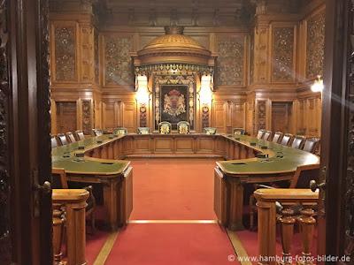 Hamburger Rathaus innen, Kabinettssaal