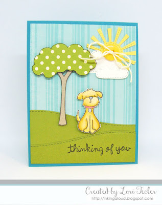Thinking of You card-designed by Lori Tecler/Inking Aloud-stamps from Lawn Fawn