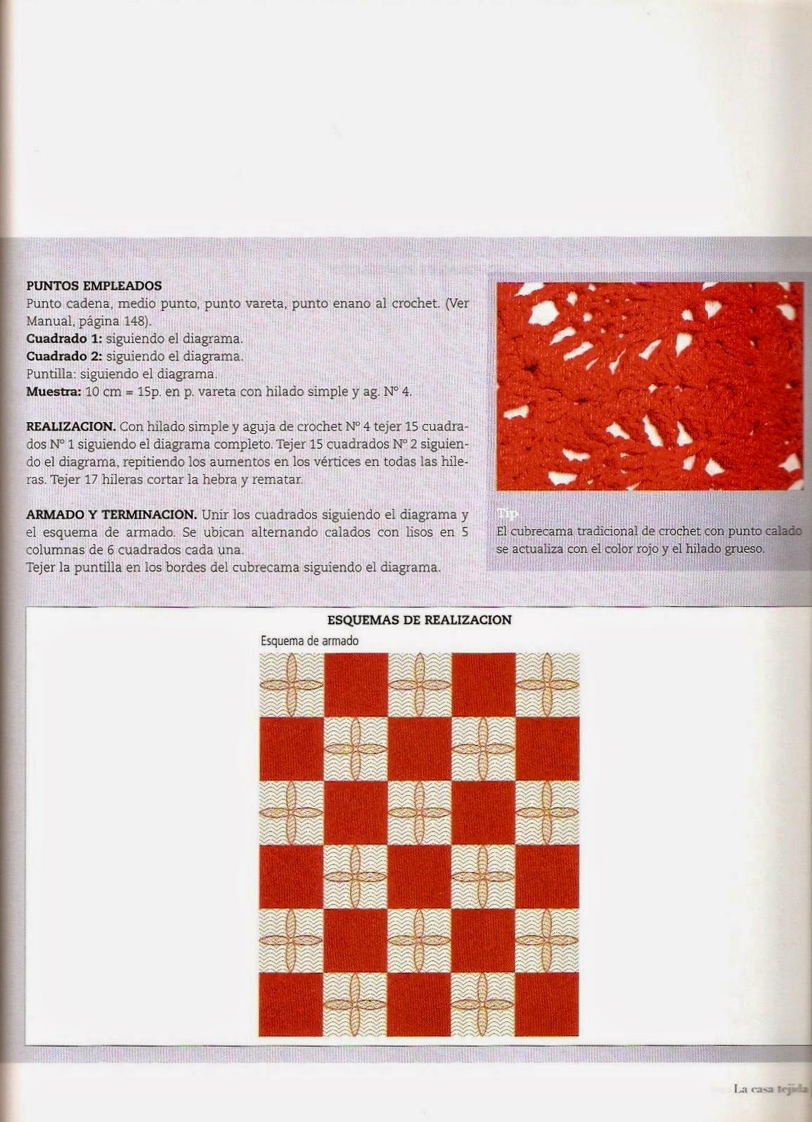 PATRONES GRATIS DE CROCHET: Patrón bello cubrecama a crochet