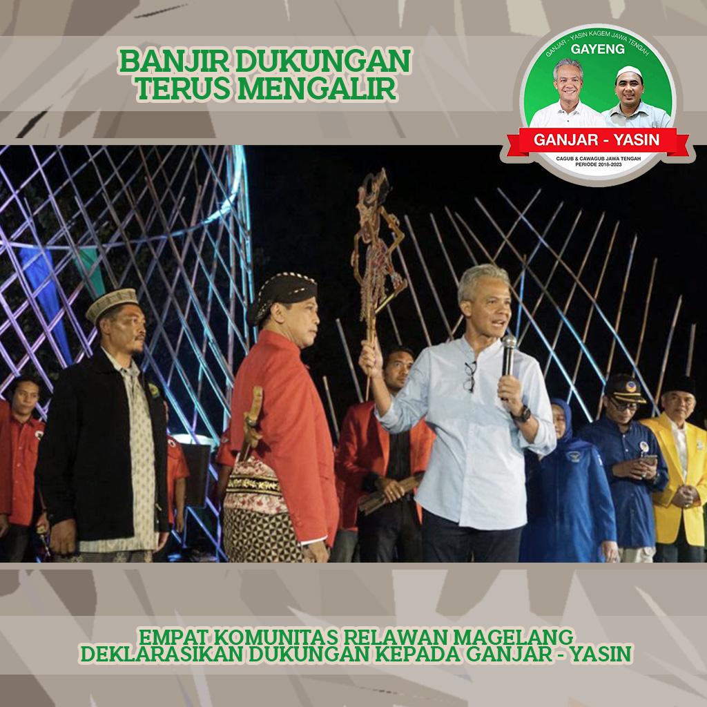 Warga Magelang Deklarasikan Tetap Dukung Ganjar Pranowo