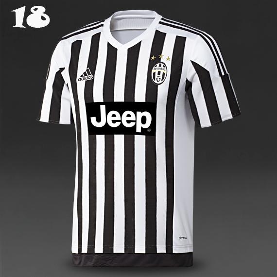 710b9a952 The new Adidas Juventus 15-16 Shirt boasts thinner stripes than previous  Nike Shirts