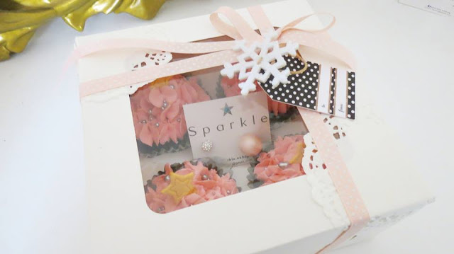 Cupcakes navidad y doble perla dior