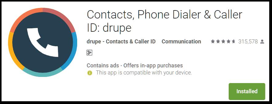 drupe phone dialer app
