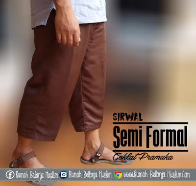 Celana Sirwal Semi Formal Coklat Pramuka