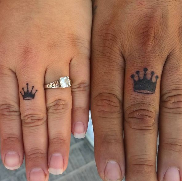 50 Adorable King And Queen Tattoos For Couples (2017 ...