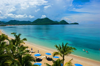 Rodney Bay and the beach, St. Lucia, Saint Lucia, Caribbean