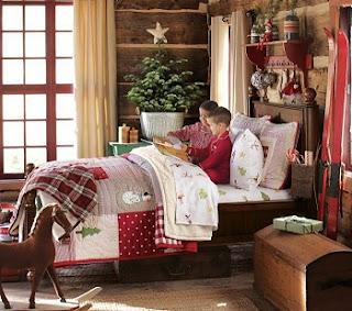 habitación decorada navidad