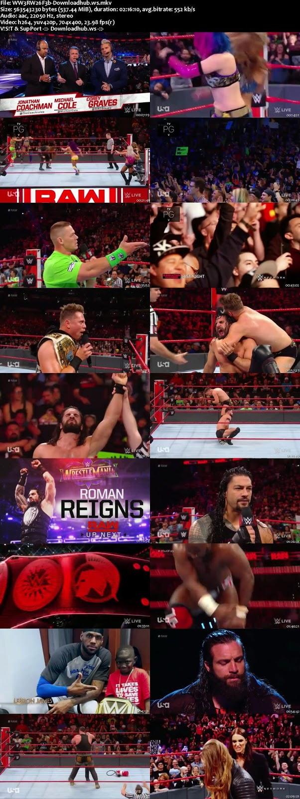WWE Monday Night Raw 26 February 2018 480p HDTV Download