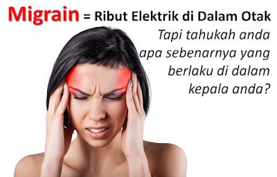 migrain punca sebab cause
