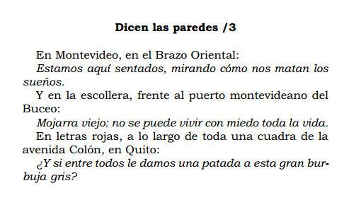 Eduardo Galeano - Dicen las paredes/3 - El libro de los abrazos