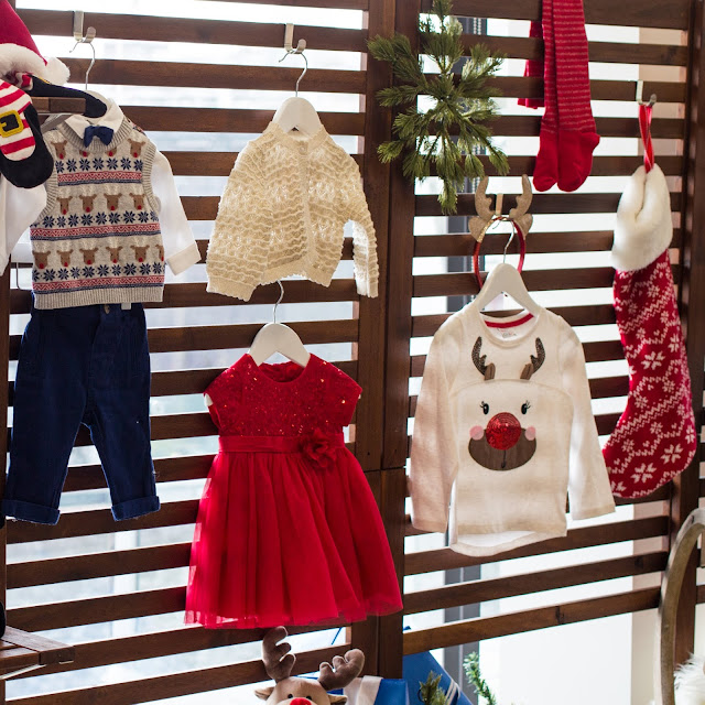 A selection of Christmas clothes for children