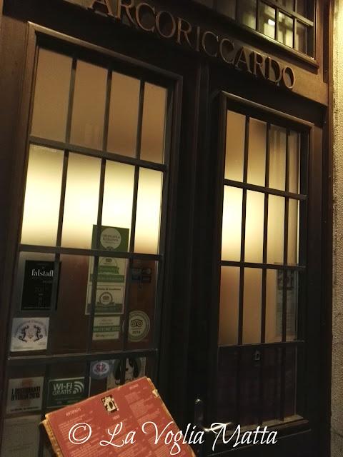 "ingresso ristorante ""Arcoriccardo"" a Trieste"