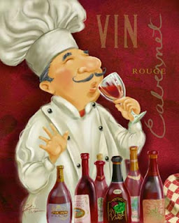 Retro Posters with Chefs and Wine.