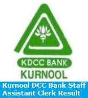 Kurnool DCC Bank Staff Assistant Clerk Result
