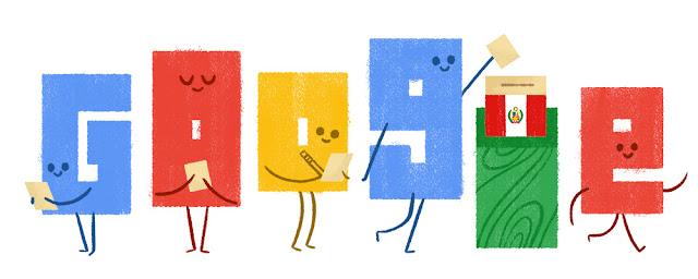 Perú Elections 2016 - Google Doodle