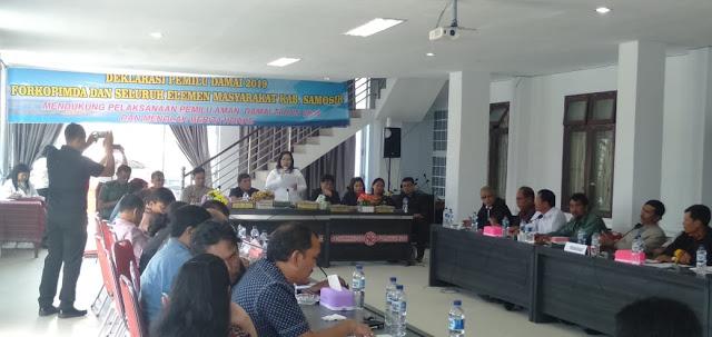 Diinisiasi DPRD Samosir, Forkopimda Deklarasikan Pemilu Damai