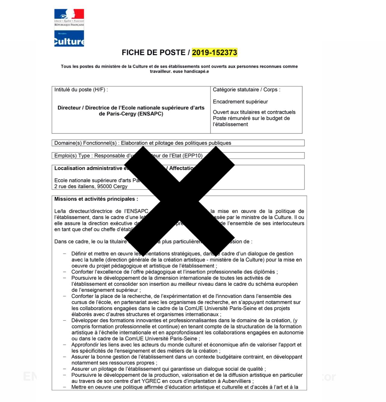 Comme on le voit, la transparence règne dans le royaume des nominations  culturelles. Après que la fiche de poste à pourvoir eut été publiée par le  Ministère ... 023fdc8c87c