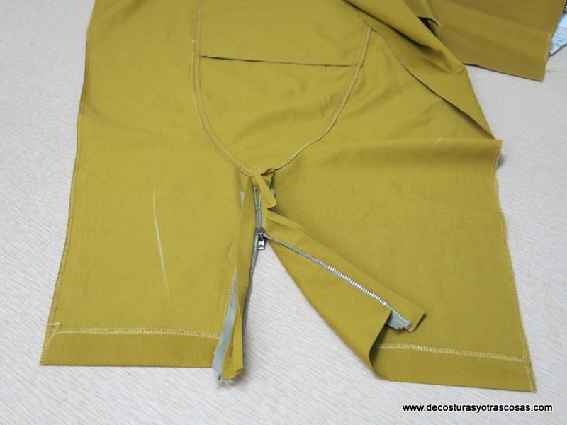 como hacer un pantalón de loneta con cuatro bolsillos