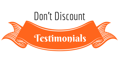Don't discount testimonials