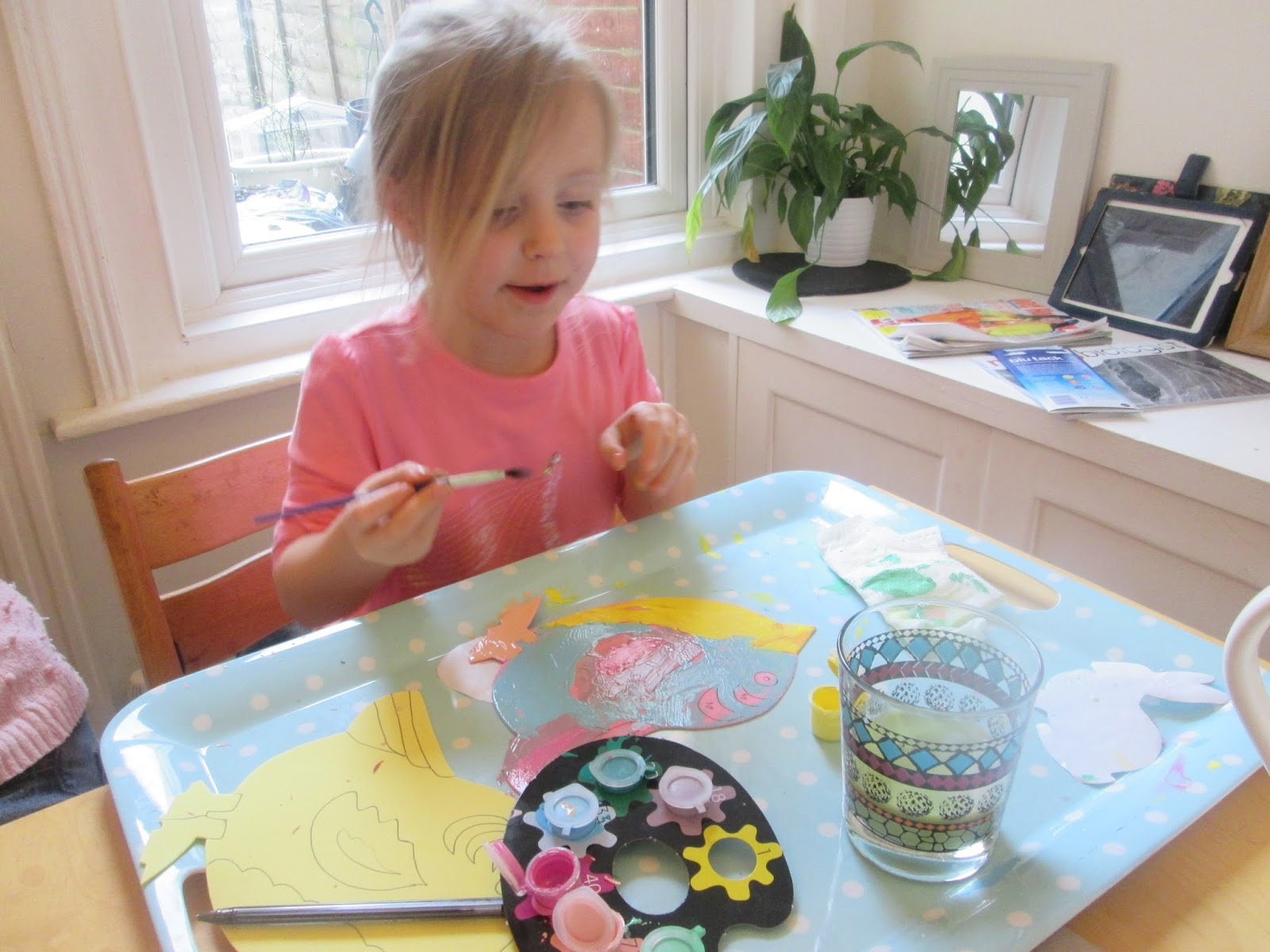 Easter painting with Lily