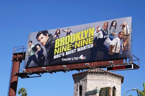 Brooklyn Nine-Nine S6 NBCs most wanted billboard