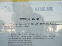 Customer Service dan Coordinator Front End di SC Samsung - Padang