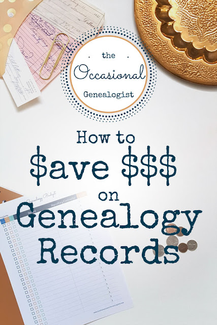 How to save money on genealogy. Cheap genealogy records. | The Occasional Genealogist
