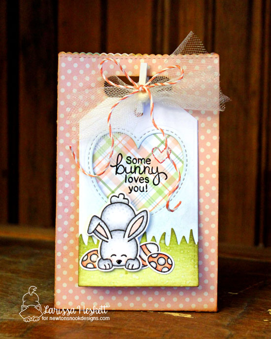 Bunny Card by Larissa Heskett | Bitty Bunnies Stamp Set and Die Set by Newton's Nook Designs #newtonsnook
