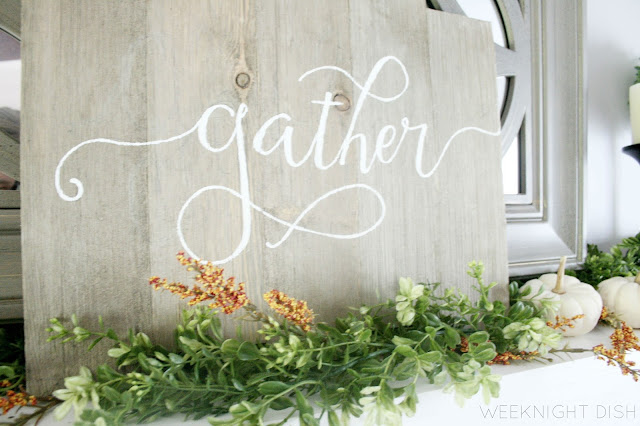 """Handpainted """"Gather"""" sign"""