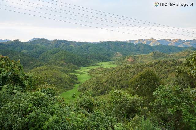 Krajobraz w Laosie