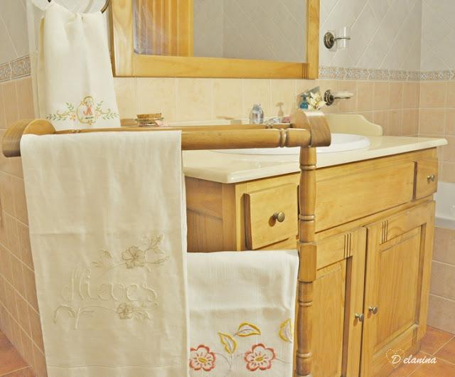 Restaurar un toallero rústico