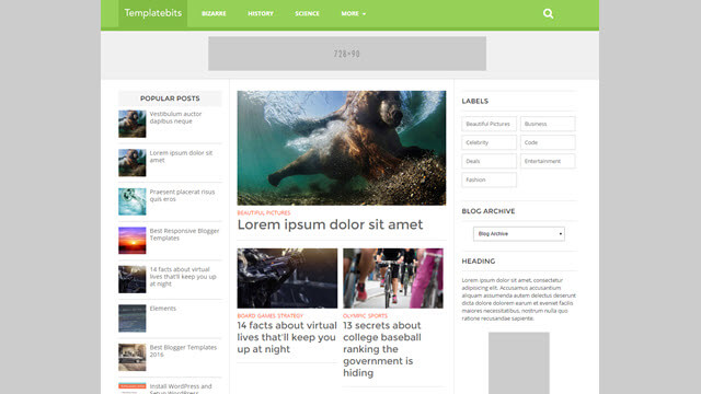 List Mag Responsive Newspaper Blogger Templates