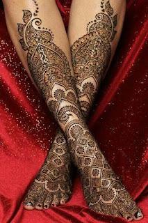 Leg mehendi designs
