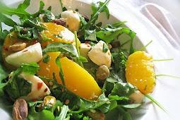 Peach and Bocconcini Salad with Arugula