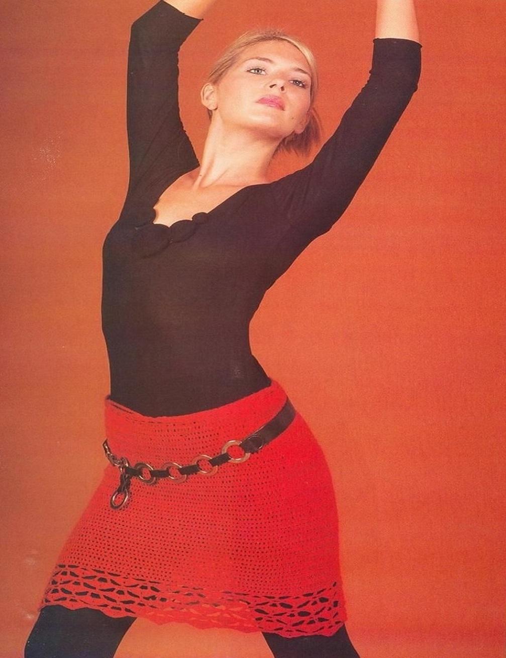 ganchillo,falda flamenca, falda crochet, falda calada, feria de abril