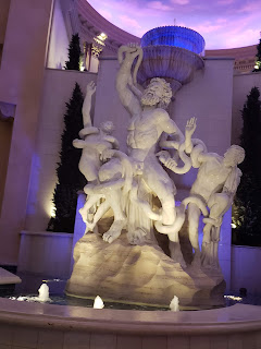 Neptune's Fountain at the Forum Shops at Caesar's Palace in Las Vegas Nevada