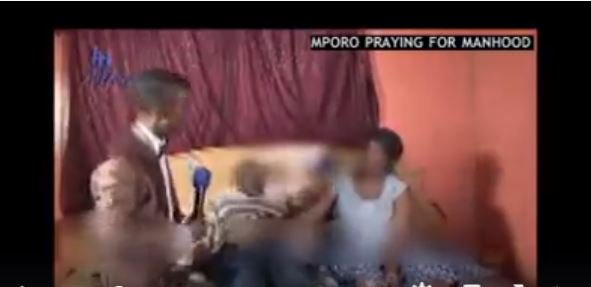 SA Pastor Mboro prays for man's penis, forces him to have sex with his wife on live TV (Video)