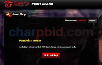 Cara Mudah isi dan Tukar Shell Garena Menjadi Cash Point Blank (PB) [Update]