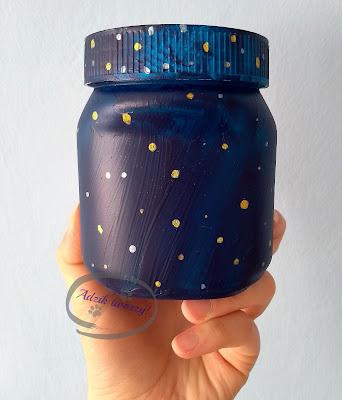 DIY skarbonka ze słoika z recyklingu