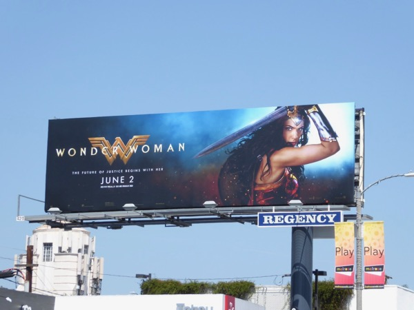 Wonder Woman film billboard