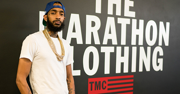 Nipsey Hussle, founder of The Marathon Clothing store