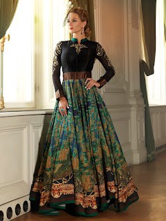 Black Anarkali Suit, Black suit