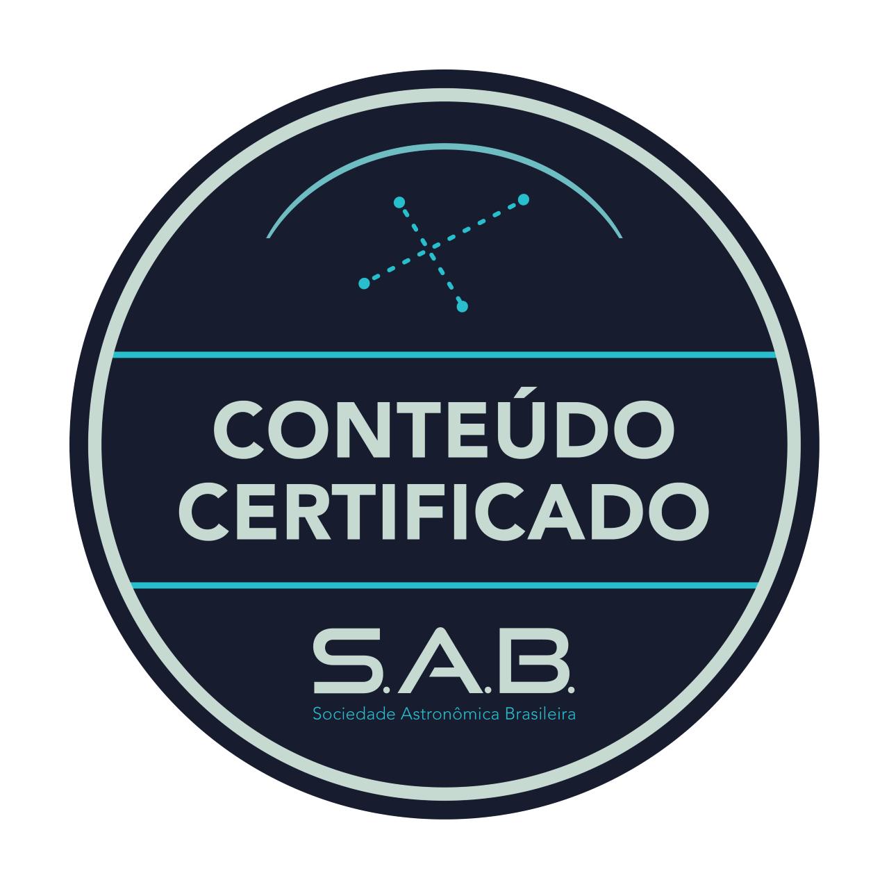 Selo de qualidade da Sociedade Astronômica Brasileira