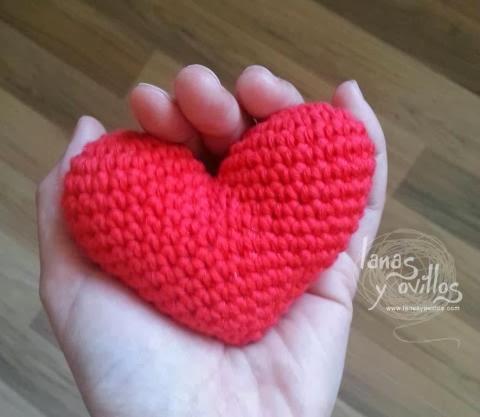 Llavero Corazón Amigurumi / Tutorial | 417x480
