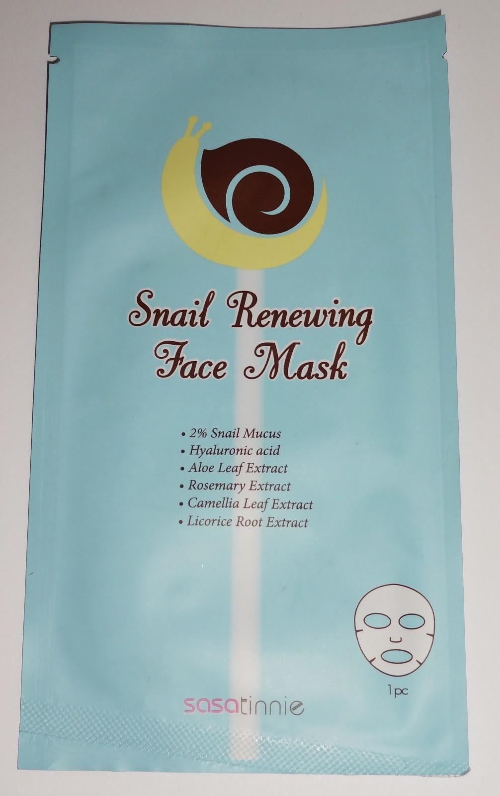 Sasatinnie - Snail Renewing Face Mask