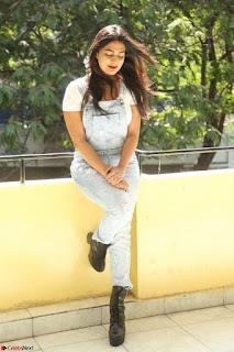Neha Deshpande in Spicy Denim Jumpsuit and Whtie Crop Top March 2017 123.JPG